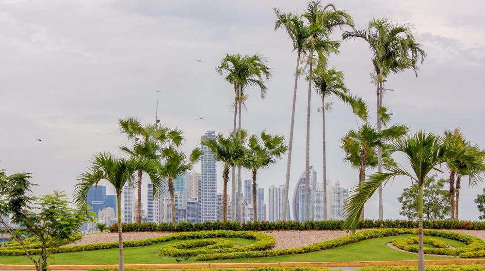panama skyscrapers view