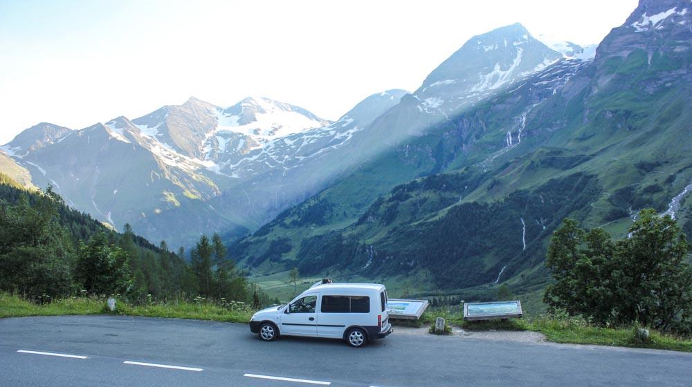 Austria Grossglockner road car