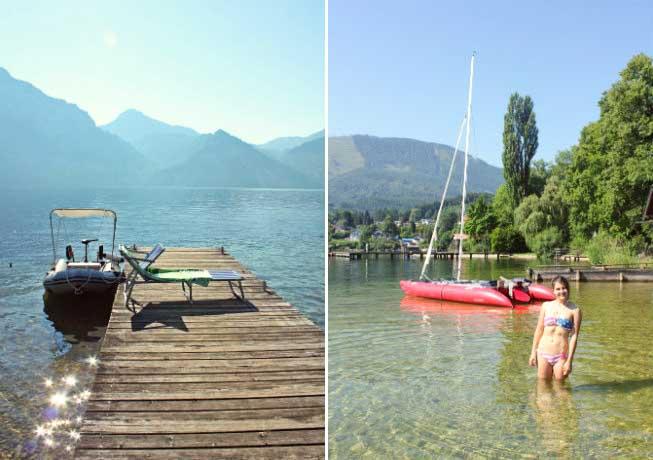 Austria bathing in lake