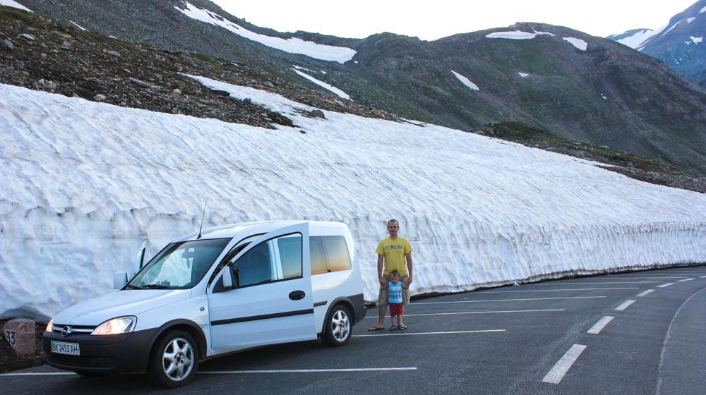 Austrian Alps snow