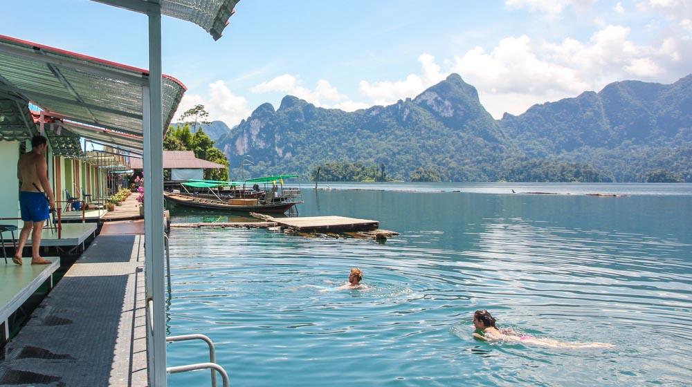 khao sok lake swim