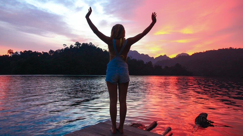 khao sok sunset and me