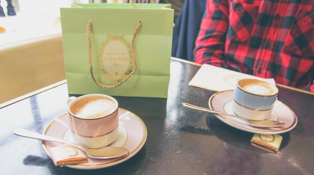 Romantic Things to Do In Paris - coffee at laduree