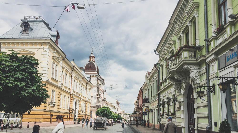 chernivtsi walking street