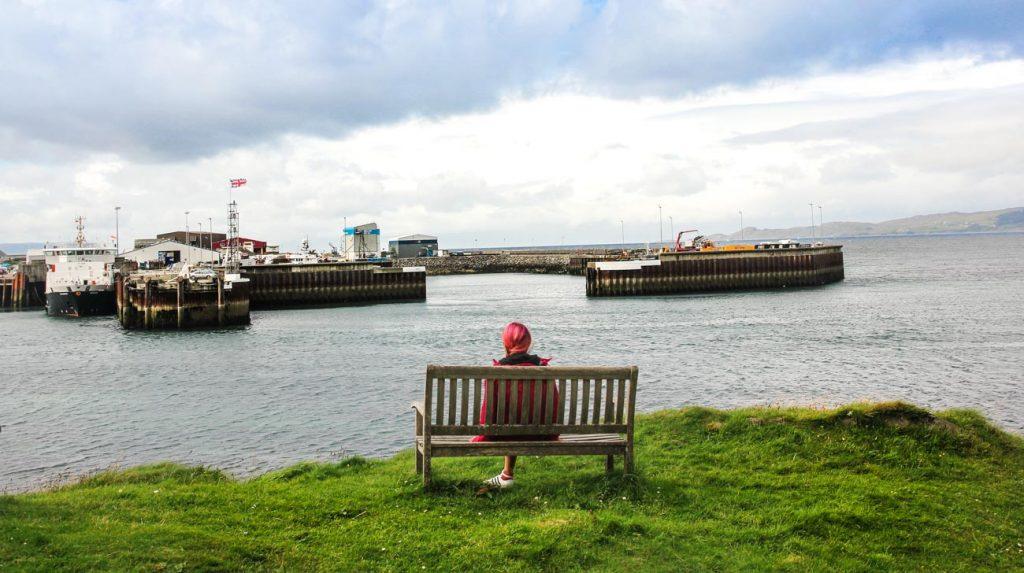 Scotland Itinerary - mallaig bench