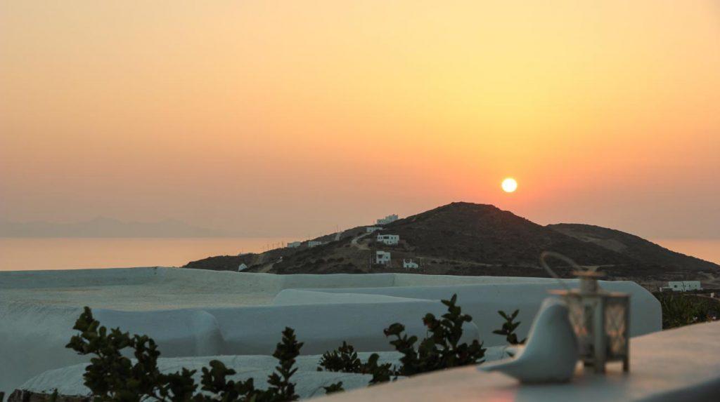 greek island holiday - Lilly's villa sunset