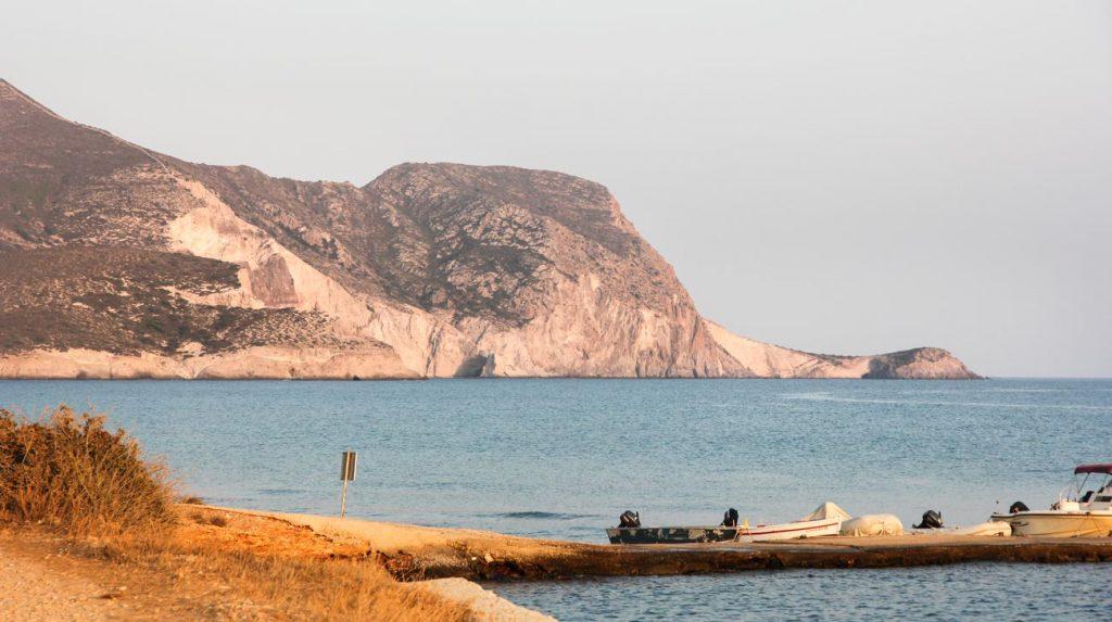 greek island holiday - antiparos mountains view