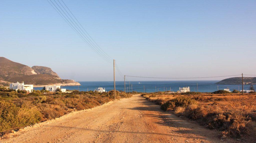 greek island holiday- antiparos roads