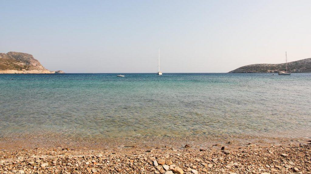 greek island holiday - antiparos sea coast