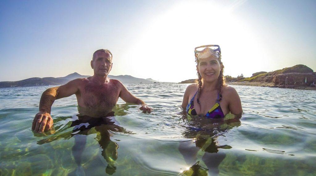 greek island holiday - snorkelling Antiparos