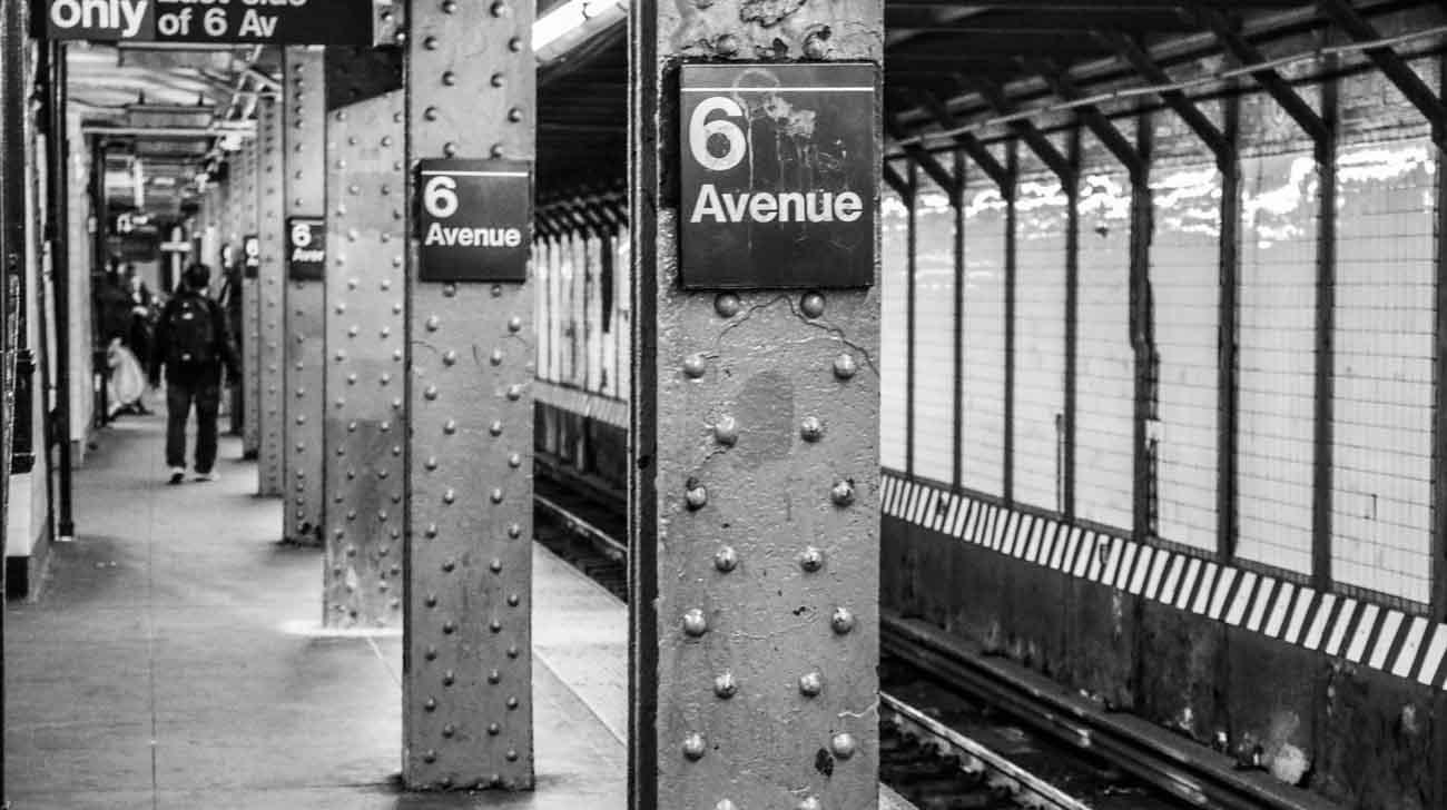 Visiting New York, New York underground station