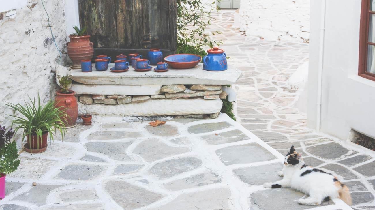 Paros Island - Lefkes art scene