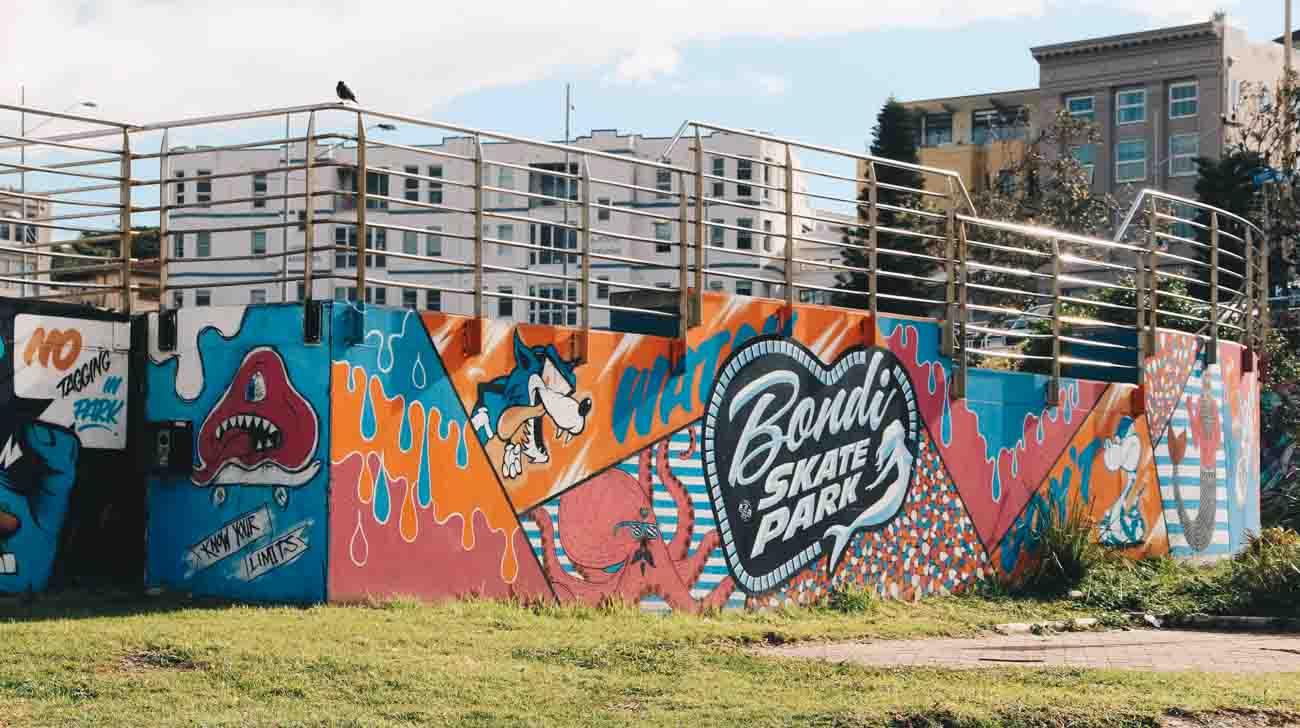 Bondi beach Syndey skate park