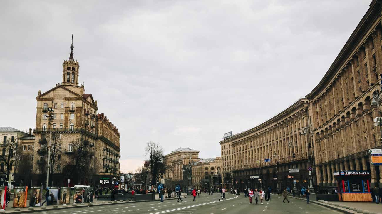 Khreschatyk Main street of Kyiv