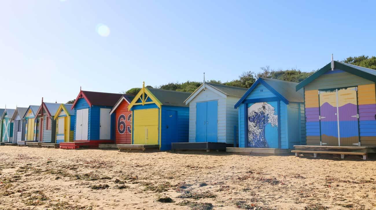 Brighton beach houses in Melbourne