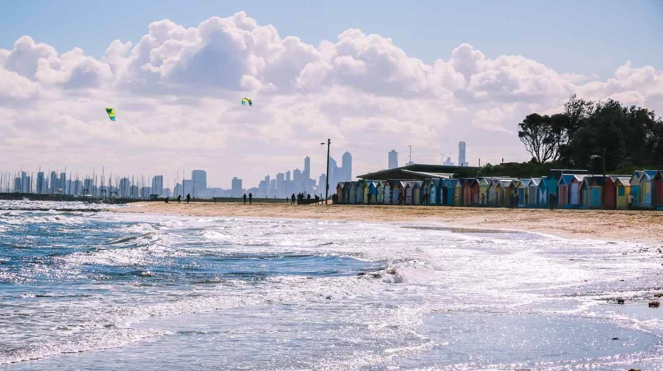 Brighton beach skyline