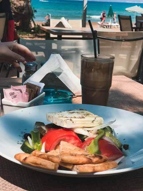 Sebastians Restaurant Agia Marina salad.5 Restaurants in Crete to visit on your Greek island vacation