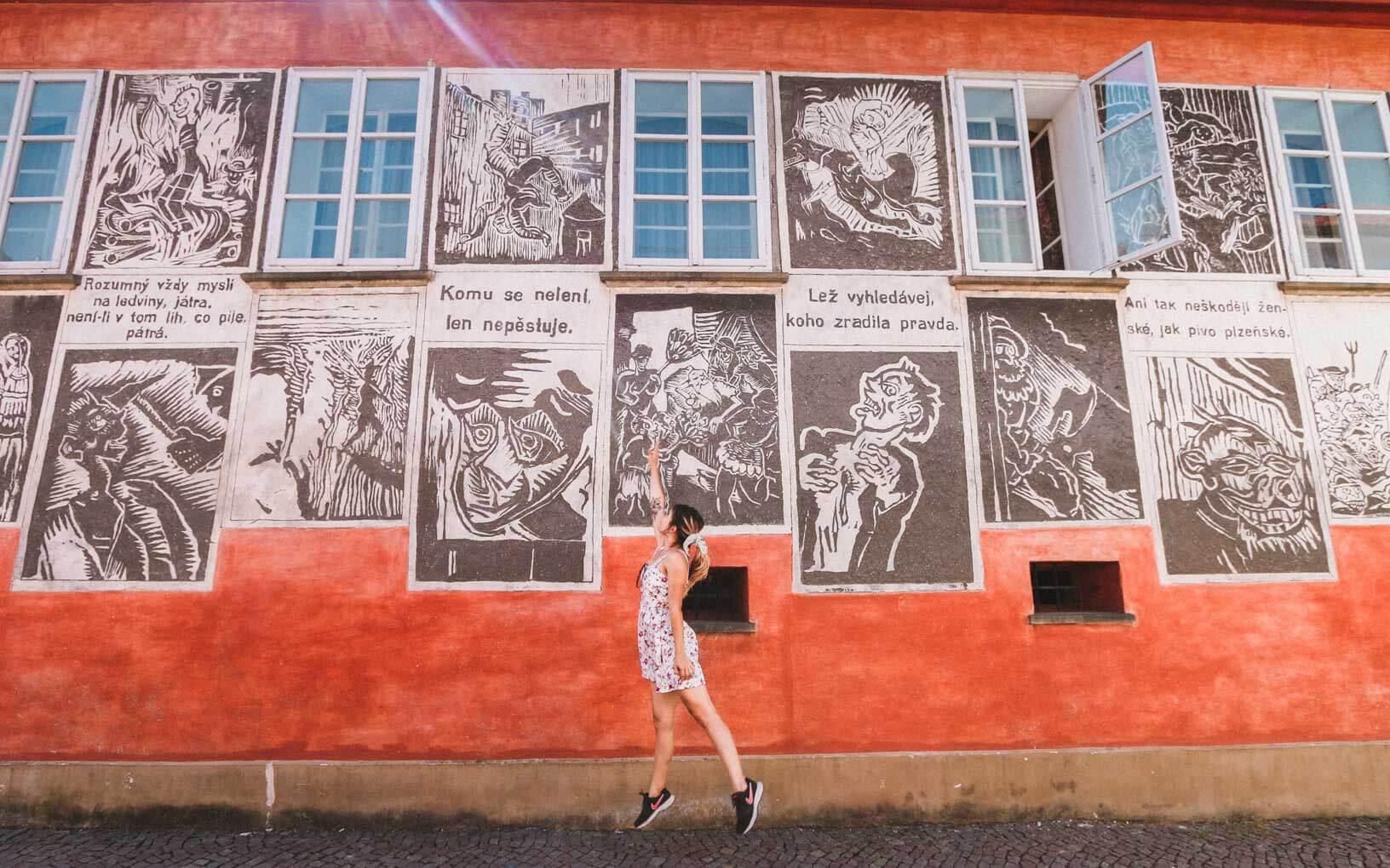 Josefa Váchala street art - Visit Litomysl in Czech Republic