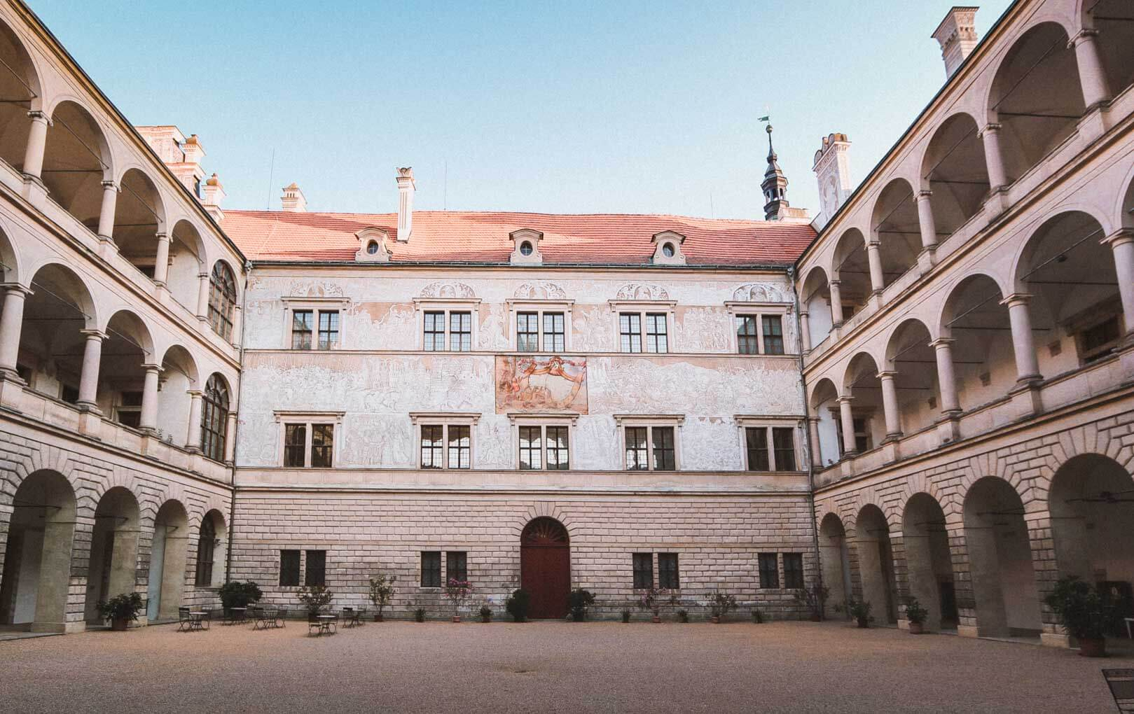 Litomysl Castle Inner Yard- Visit Litomysl in Czech Republic