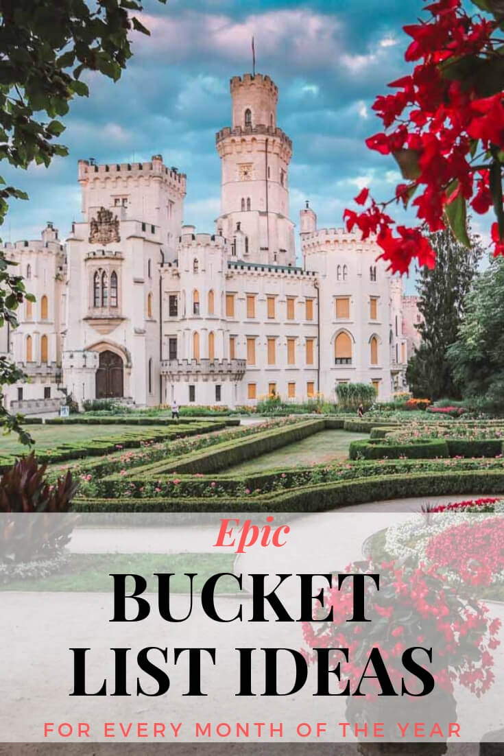 You'll be surprised to discover beautiful Czech castles that are scattered all over the country. Castles in Czech Republic. Epic Adventure Bucket List Ideas For Every Month of The Year
