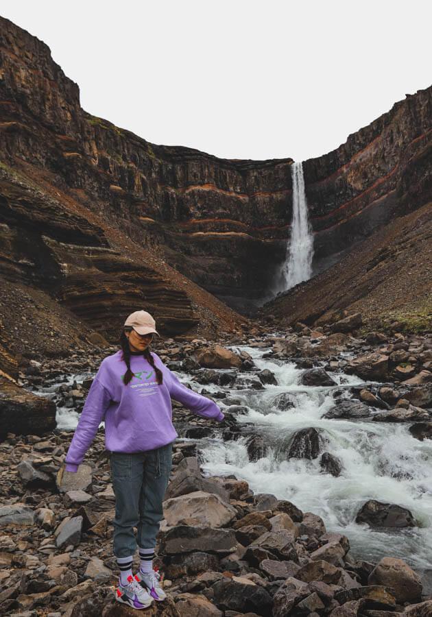 Hengifoss-waterfall-Iceland-road-trip-2
