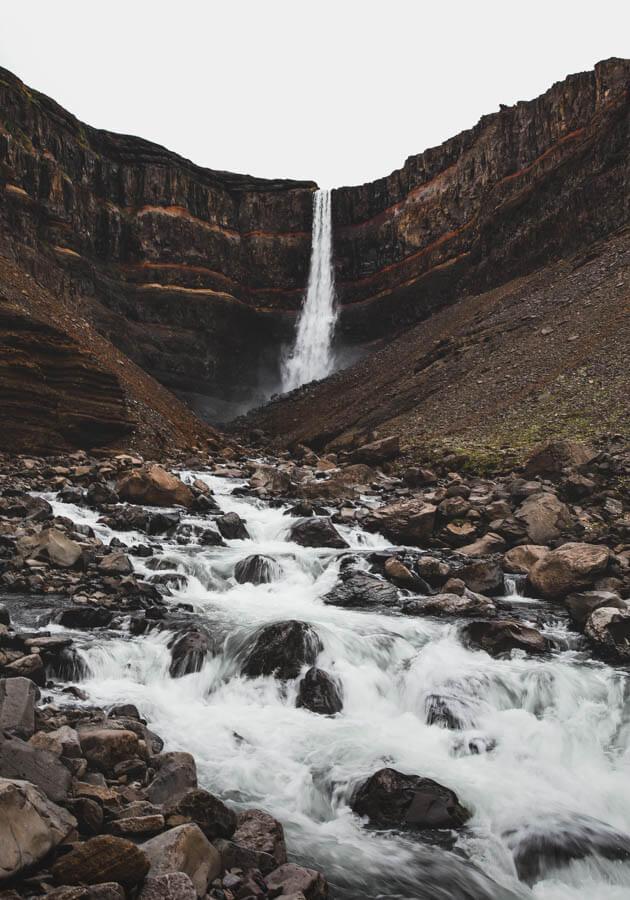 Hengifoss-waterfall-Iceland-road-trip