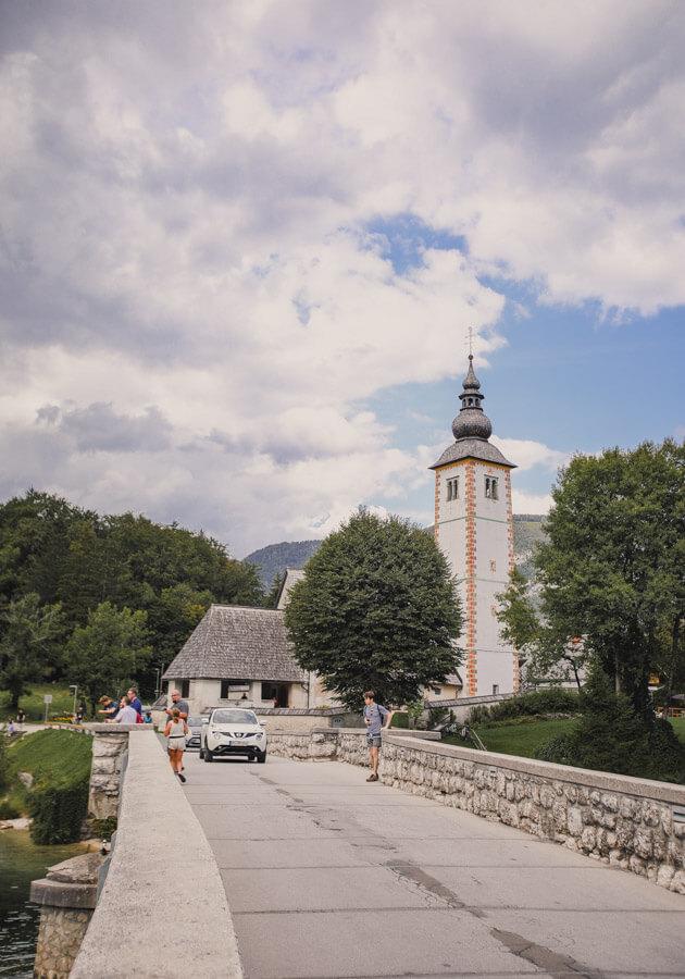 Slovenia-Itinerary-lake-Bohinj-church